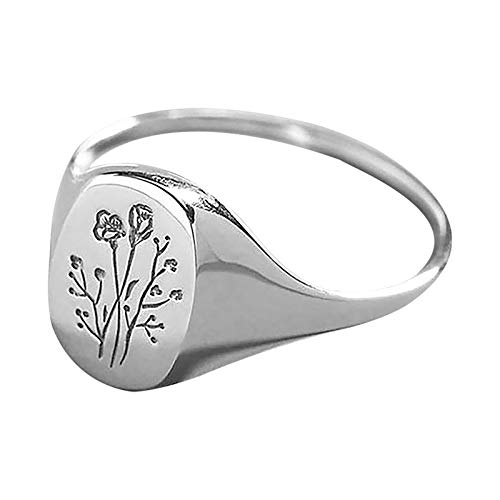 Rose Knuckle Stacking Rings for Women Engagement Rings Creative Adjustable Personalized Ring Women's Accessories Weedding Rings Valentine's Day Present(10,Silver)