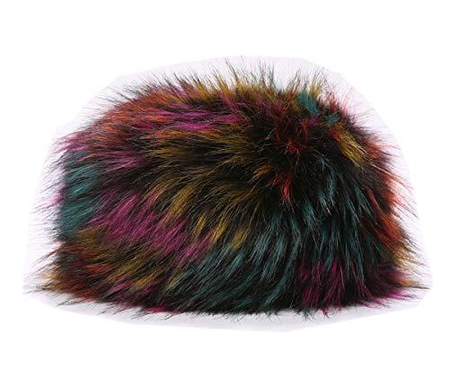 Lucky Leaf Lucky Leaf Dicke Cossak warme weiche Kappe russischen Stil Winter Hut Ohrenschützer für Damen Frauen (H-Bunt)