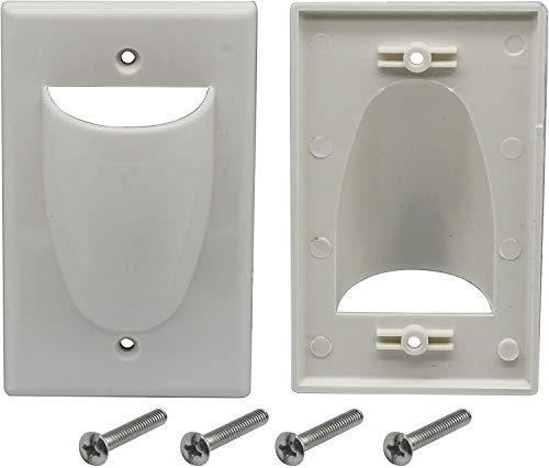 zdyCGTime Bulk Nose - Placa de Pared para Cable de alimentación (1...