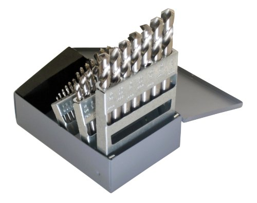 Chicago Latrobe - 69900 157 Series High-Speed Steel Short Length Drill Bit Set with Metal Case 118 Degree Conventional Point, Inch, 29-piece, 1/16' - 1/2' in 1/64' increments