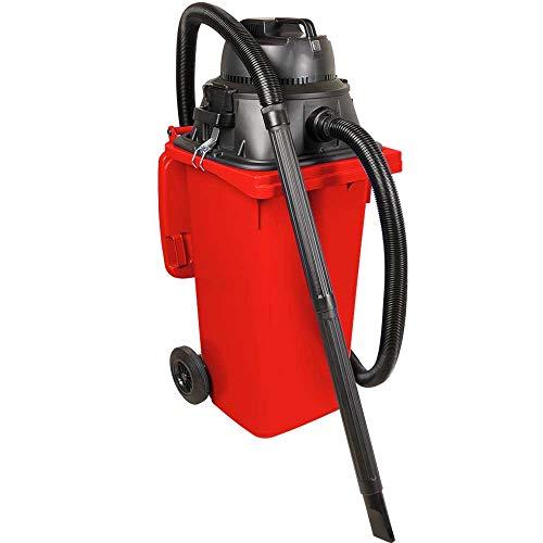 Nass-/ Trockensauger/Industriesauger 1100 Watt, mit 120 Liter Behälter (DIN Mülltonne) rot