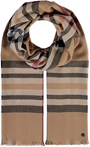 FRAAS Karierter Schal für Damen & Herren XXL - Made in Germany - Moderner Decken-Schal - The Plaid mit Karo-Muster Camel