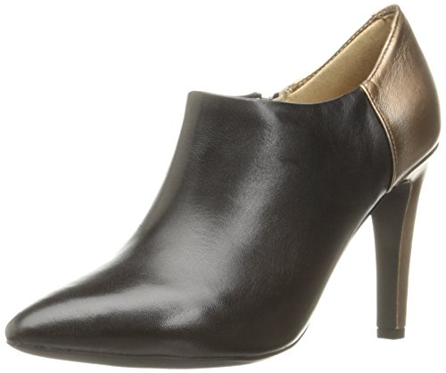 Geox D Caroline A, Zapatos de Tacón Mujer, Schwarz (Black/LT BRONZEC9261), 41 EU