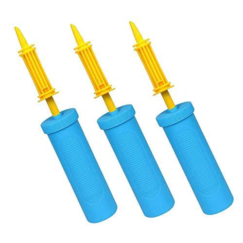 JIASHA 3 Stück Luftpumpe, Handpumpe, Party- Geburtstage-Ballonpumpen-Handmanual-Inflator-Leichtgewichtiges dauerhaftes Stabile und robuste Material