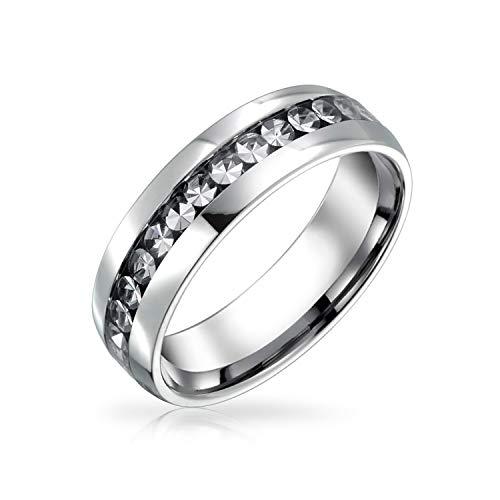 Bling Jewelry Blanco Claro Abril Mes de Nacimiento Color Canal Conjunto Cristal...