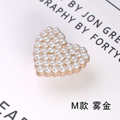 Botones de Metal de Oro Perla para Ropa Botón de Costura Ropa Decorativa Abrigo de Mujer Coser en Botones Accesorios Ropa Bricolaje, M, 20 mm