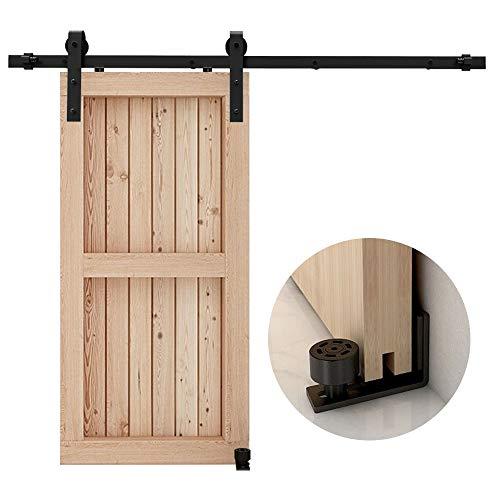 CCJH 5FT/1.5M Herraje para Puerta Corredera Kit de Accesorios para Puertas Correderas, Contiene Guía de suelo ajustable