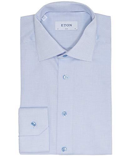 Eton Signature Twill Herren-Langarmhemd in Himmelblau Gr. 50, blau