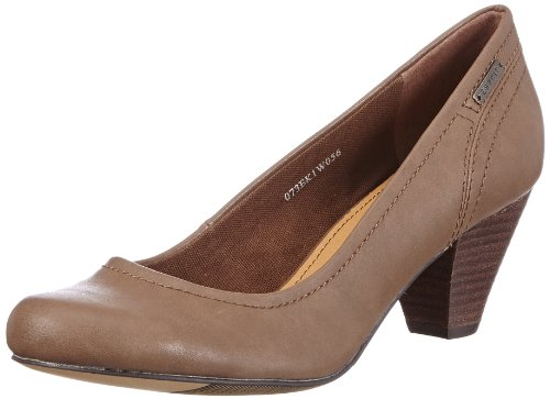 ESPRIT Ruby Pump 073EK1W056, Damen Pumps, Braun (dark sienna 924), EU 39
