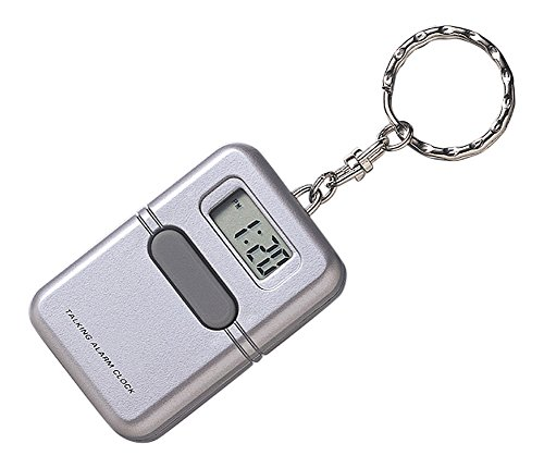 LS&S Silver Talking Clock Keychain