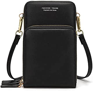 myfriday Lightweight Crossbody Phone Bag for Women, Small Shoulder Bag Cell Phone Wallet Purses and Handbags with 14 Credit Card Slots