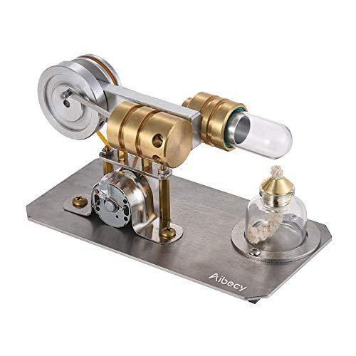 Aibecy Heißluft Stirling Motor Motor Modell Strom Generator Metall Basis Wissenschaft Pädagogisches Spielzeug