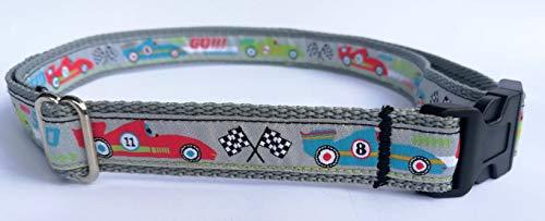 stitchbully Gürtel für Kinder von 3-12 Jahre, mitwachsend, Rennauto, Rennen, car Race, Speed, Zielflagge für kleine Rennfahrer, stufenlos verstellbar von 50-90 cm