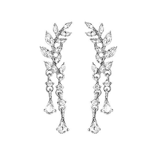 Pendientes de tuerca para mujer, diseño de alas de ángel, con incrustaciones de estrás, para fiesta, diseño de plumas góticas