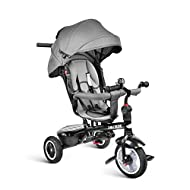 besrey Kid Trike 7 in 1 Baby Tricycle Stroller Toddler Bike with Push Handle, Rear Facing Seat, Rubber Wheel, Boy Girl Toy, 9 Months - 6 Years