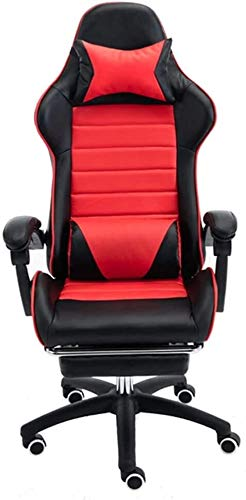 Reception Chairs Computer Chair Ergonomics E-Sports Gamer Chairs with Footrest Reclining Video Game Chair Height Adjustable Leather Desk Gaming Chair with Headrest and Lumbar Support Athletic Chair