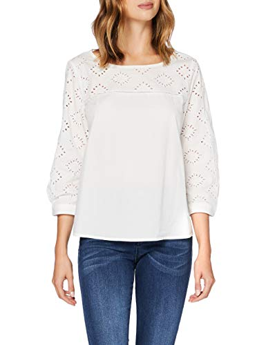 ESPRIT Damen 990EE1F305 Bluse, Off White (110), 32