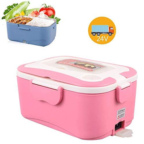 TERMALY elektrische lunchbox voor kantoor, bento-verwarming, elektrische lunchbox, lunchbox met verwarming, roestvrijstalen folie, auto 12 V/24 V, huishoudelijke spanning 220 V H