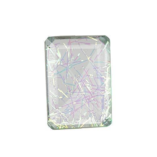 GEMHUB Doble de cristal multicolor de calidad superior A+113.80 quilates en forma de esmeralda colgante y fabricación de joyas