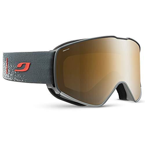 Julbo CYRIUS - Gafas de esquí con pantalla REACTIV fotocromática, polarizante para hombre, color gris/rojo, XL
