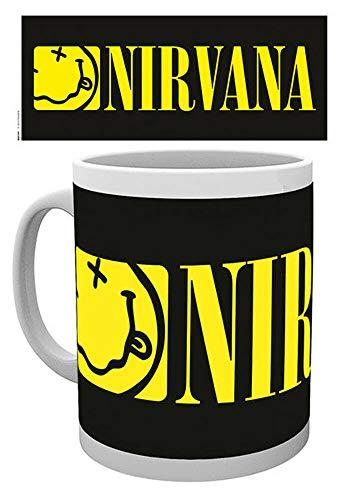 for-collectors-only Nirvana Tasse Smiley Logo Kaffeebecher Kaffeetasse Mug Becher schwarz