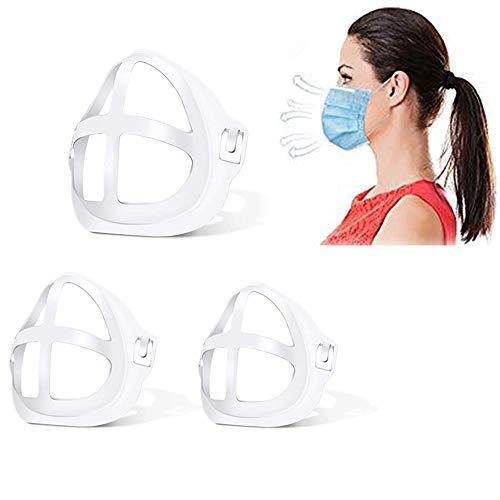 Soporte de máscara, Marco de soporte interno facial 3D para máscara, Marco de soporte facial 3D reutilizable para lápiz labial Protector facial protector Cómodo soporte (Soporte para máscara 3