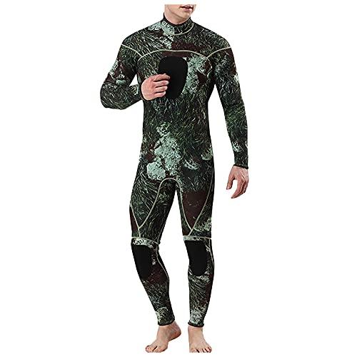 Ganzkörper Tauchanzug Herren Schnelltrocknende Stretch Neoprenanzug Männer Tarnung Langarm Nassanzüge Neopren Taucheranzug Schnorcheln für Tauchen Schwimmen Surfen Spearfishing Schnorcheln Kanufahren
