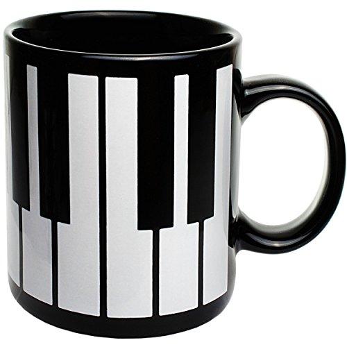 alles-meine.de GmbH 1 Stück _ Henkeltasse / Kaffeetasse -  Klavier & Piano Tastatur / Klaviatur  - groß - 330 ml - Porzellan / Keramik - Teetasse - Trinktasse mit Henkel / Henk..