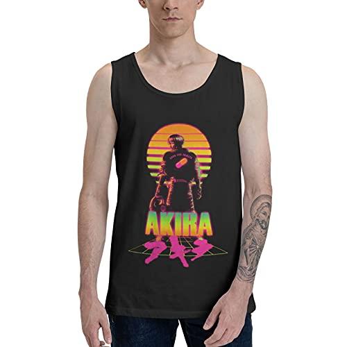 CAPUSTO Akiira Tank Top for Men, 3D Print Youth Men Sleeveless Shirts, Men's Sports Quick Dry Tank Tops Medium Black