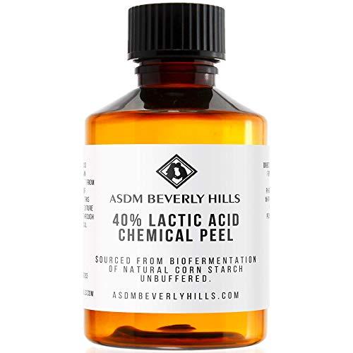 ASDM Beverly Hills Lactic Acid Peel 40% 2oz 60ml Medical Strength Treatment Hyperpigmentation, Age Spots, Melasma, Brighten Dull Skin Discoloration Uneven Complexion, AHA Chemical Peels, Sensitive Dry
