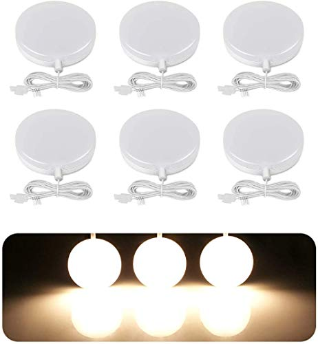 LE Schrankbeleuchtung, LED Unterbauleuchte Küche Set, Vitrinenbeleuchtung Inklusiv alle Zubehör, Schrankleuchte 120 Abstrahlwinkel, 12W 1020LM Küchenlampen LED Lichtleiste, 3000K Warmweiß, 6er Pack