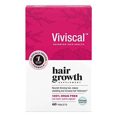 Viviscal Women's Hair Growth Supplements for Thicker, Fuller Hair | Clinically Proven with Proprietary Collagen Complex | 60 Tablets - 1 Month Supply
