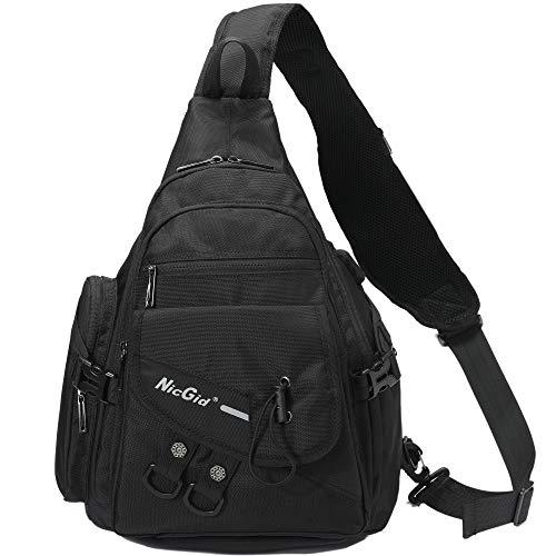 Large Sling Bag Chest Shoulder Backpack Travel Crossbody Messenger Bags School Backpacks for 13.3'' Laptop iPad Men Women
