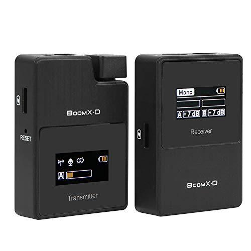 DAUERHAFT 2400~2483.5MHz Cantidad eléctrica visualizada Micrófono 2.4G Digital Inalámbrico Automático Salto de...
