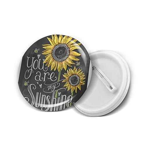 Pines de solapa con diseño de botón con texto en inglés 'You are my Sunshine', 20 unidades, M
