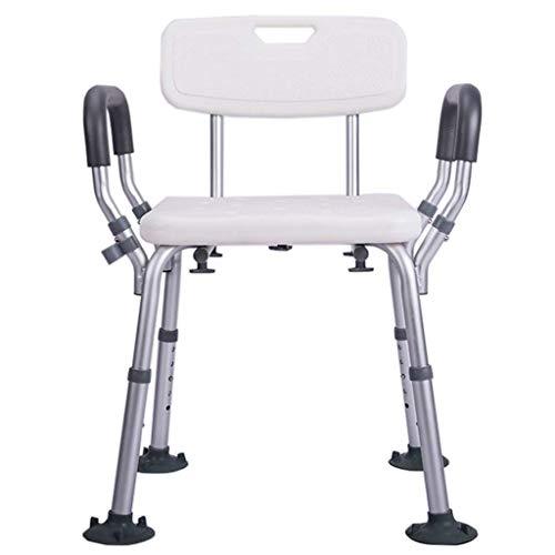 MUMUMI Taburetes de Baño, Silla de Ducha con Espalda | Asamblea Libre de Herramientas | Bañera | para Discapacitados, Mayores, Bariátricos,B