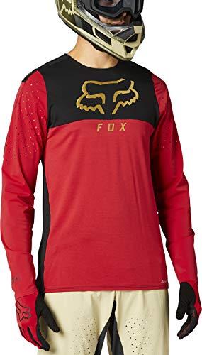 Fox Racing Herren Flexair Delta Long Sleeve Jersey Hemd, Chili, X-Groß