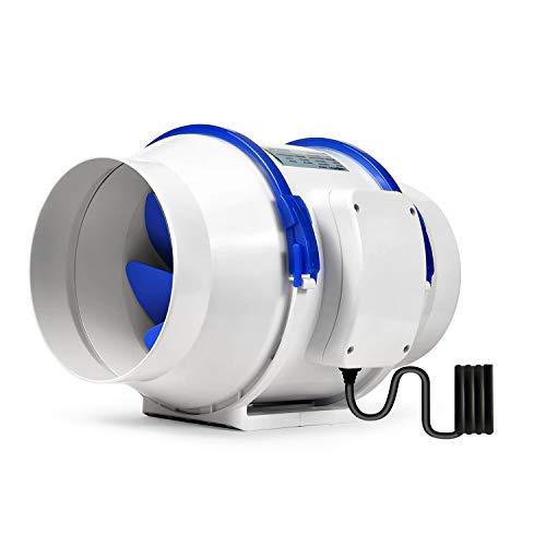 Hon&Guan 150mm Rohrventilator für Badezimmer, Gewächshäuser, Hydroponik (ø150mm)