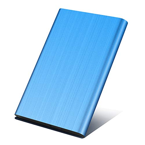 Disco Duro Externo 1 TB, Disco Duro Externo para PC, Mac,Xbox, MacBook, Chromebook (1TB,Azul)