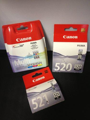 Multipack von Canon für Pixma MP 560 (5x Patronen - 1x Bk breit,1x BK schmal,1xC,1xM,1x Y) MP560 Druckerpatronen