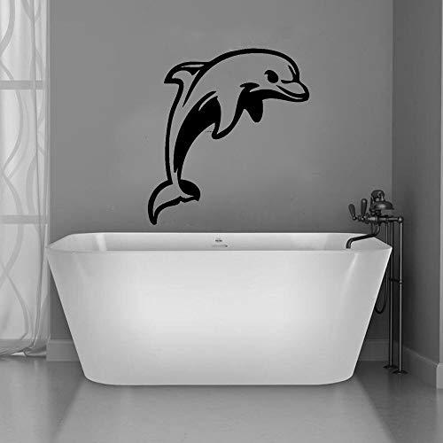 Vinilo etiqueta de la pared baño decoración de la casa tatuajes de pared pez delfín sala de estar calcomanía mural diseño de la habitación