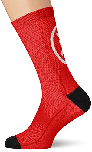 MB Wear Chaussettes Smile-Rouge, Calzini Unisex-Adulto, Rosso, FR : L (Taille Fabricant : L/XL (41-46))