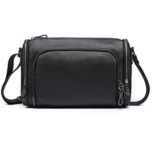 Men'S Shoulder Bag Casual Messenger Bag Fashion Leather Large Capacity Backpack Leather Messenger Bag Tablet Bag