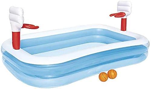 FJIE Aufblasbarer Pool, Familien-Kinderpool, 253 X 168 X 102 cm, Einfache Einrichtung, Ab 3 Jahren