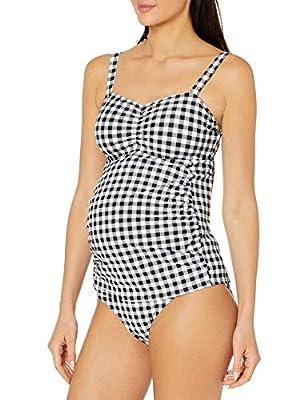 Motherhood Ruched Maternity Tankini Swimsuit