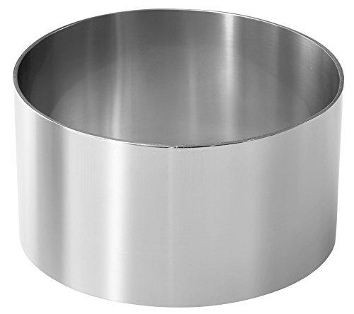 Fackelmann 48176 - Molde para postres y entrantes (2 unidades de 6,5 / 7,5 cm), acero