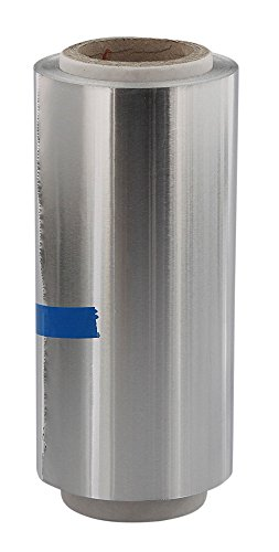 Silber Friseur Premium Alufolie 12 cm, Strähnenfolie Starke Kosmetex Alu Folie mit 15 Micron, Silber
