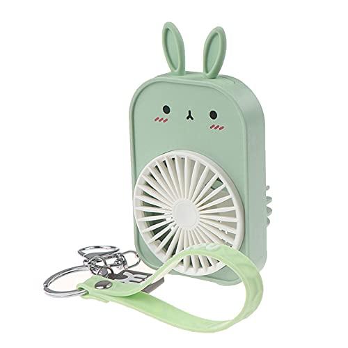 Ventiladores de bolsillo con patrón de dibujos animados, Mini ventiladores de carga USB, ventiladores para estudiantes al aire libre, ventilador portátil ABS, Mini ventilador enfriador de aire
