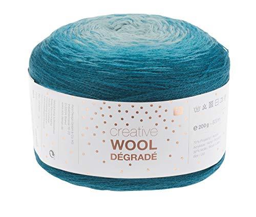 Rico Wolle Creativ Wool Dégradé 200g 4-fädig Petrol
