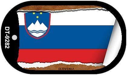 Koopje Wereld Slovenië Vlag Scroll hond Tag Kit Metalen Novelty Ketting (Met Sticky Notes)